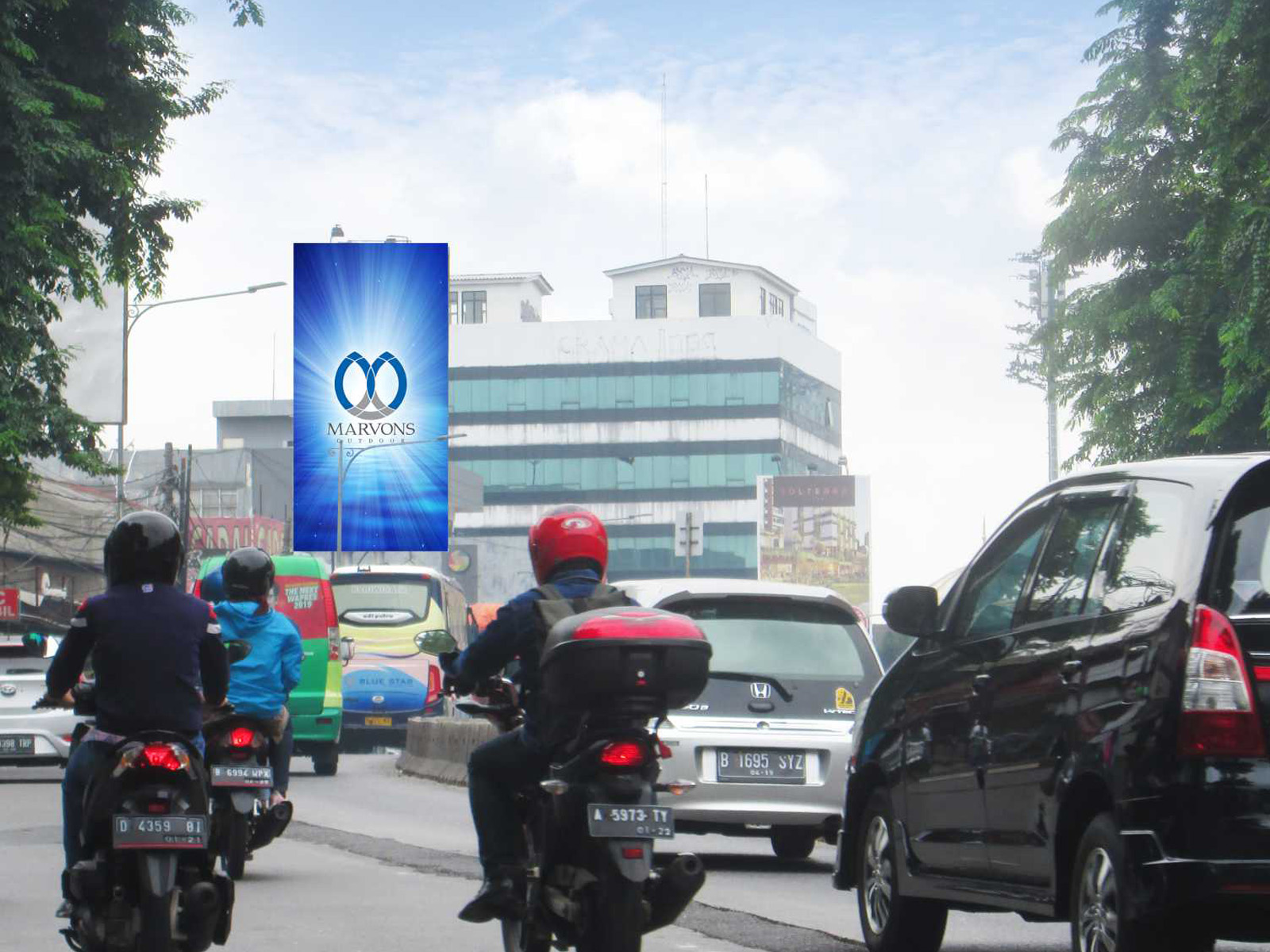 PT. Marvons Media Utama - Buncit Dunlop (MV 012) - 5 m x 10 m x 2 mk Vertikal