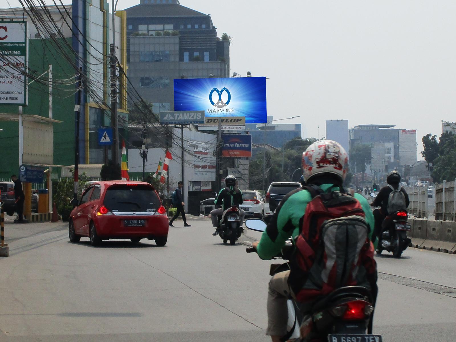 PT. Marvons Media Utama - Warung Buncit (JMC) (MV 008) - 5 m x 10 m x 2 mk Horizontal