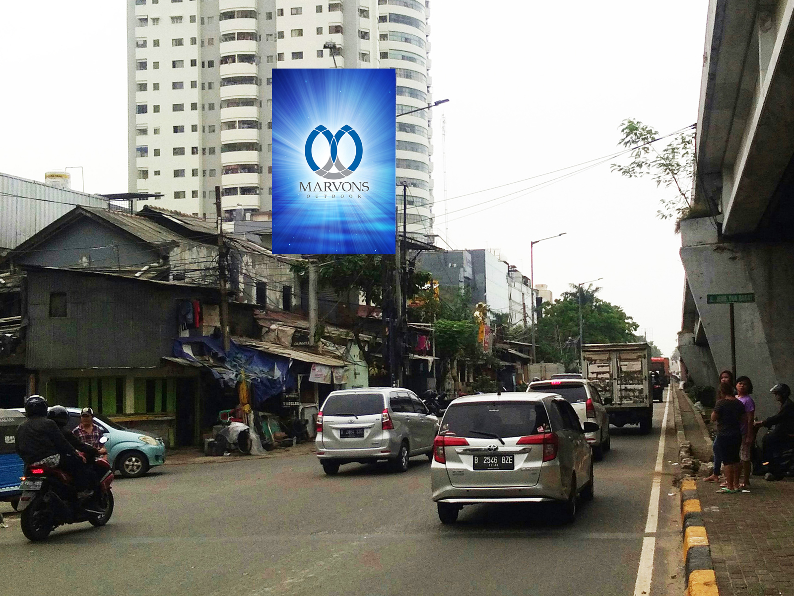 PT. Marvons Media Utama - Jembatan Dua (MV 092) - 4m x 6m x 1 mk Vertikal