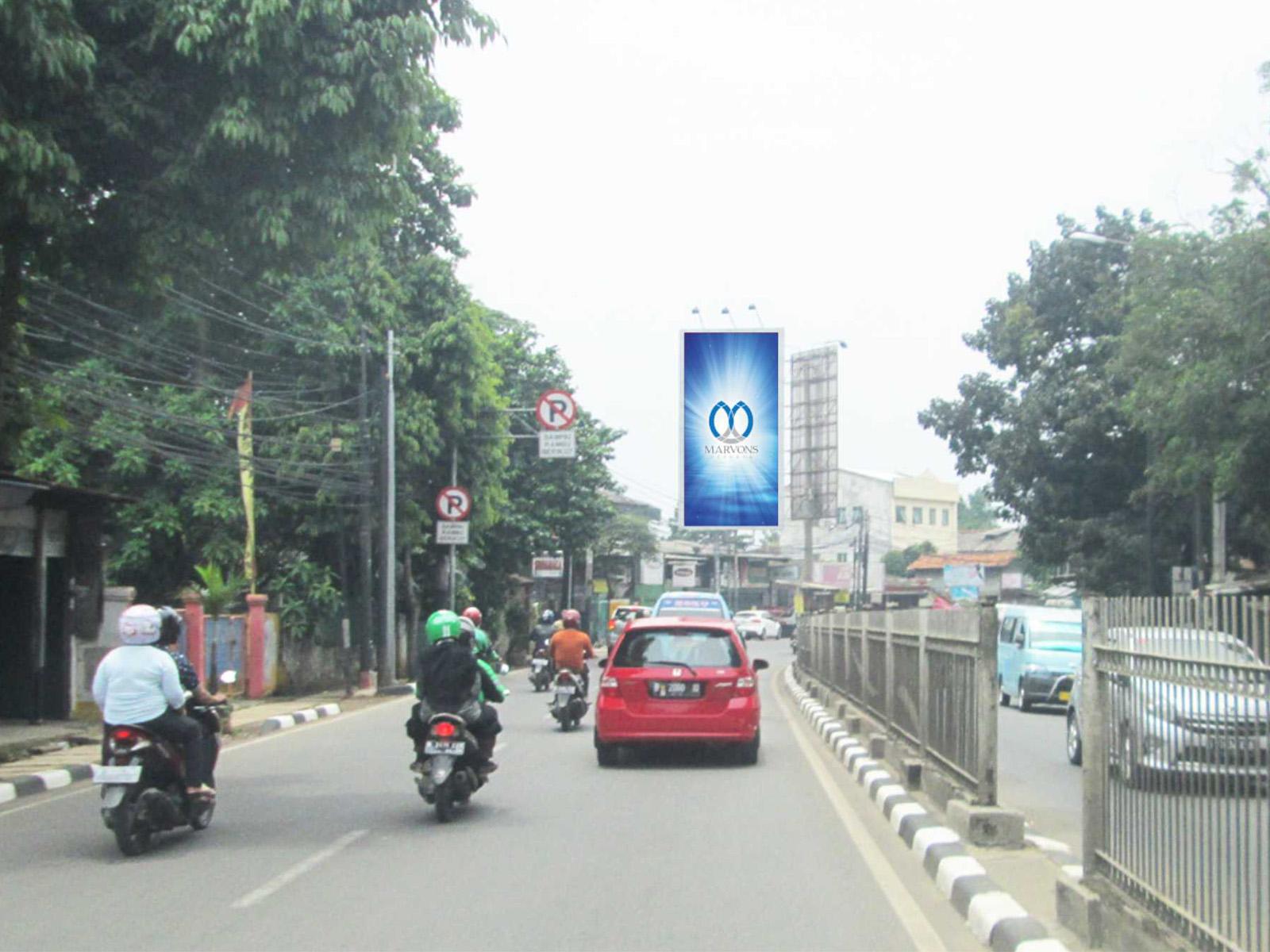PT. Marvons Media Utama - Raya Bogor Kramat Jati (MV 109) - 5 m x 10 m x 1 mk Vertikal