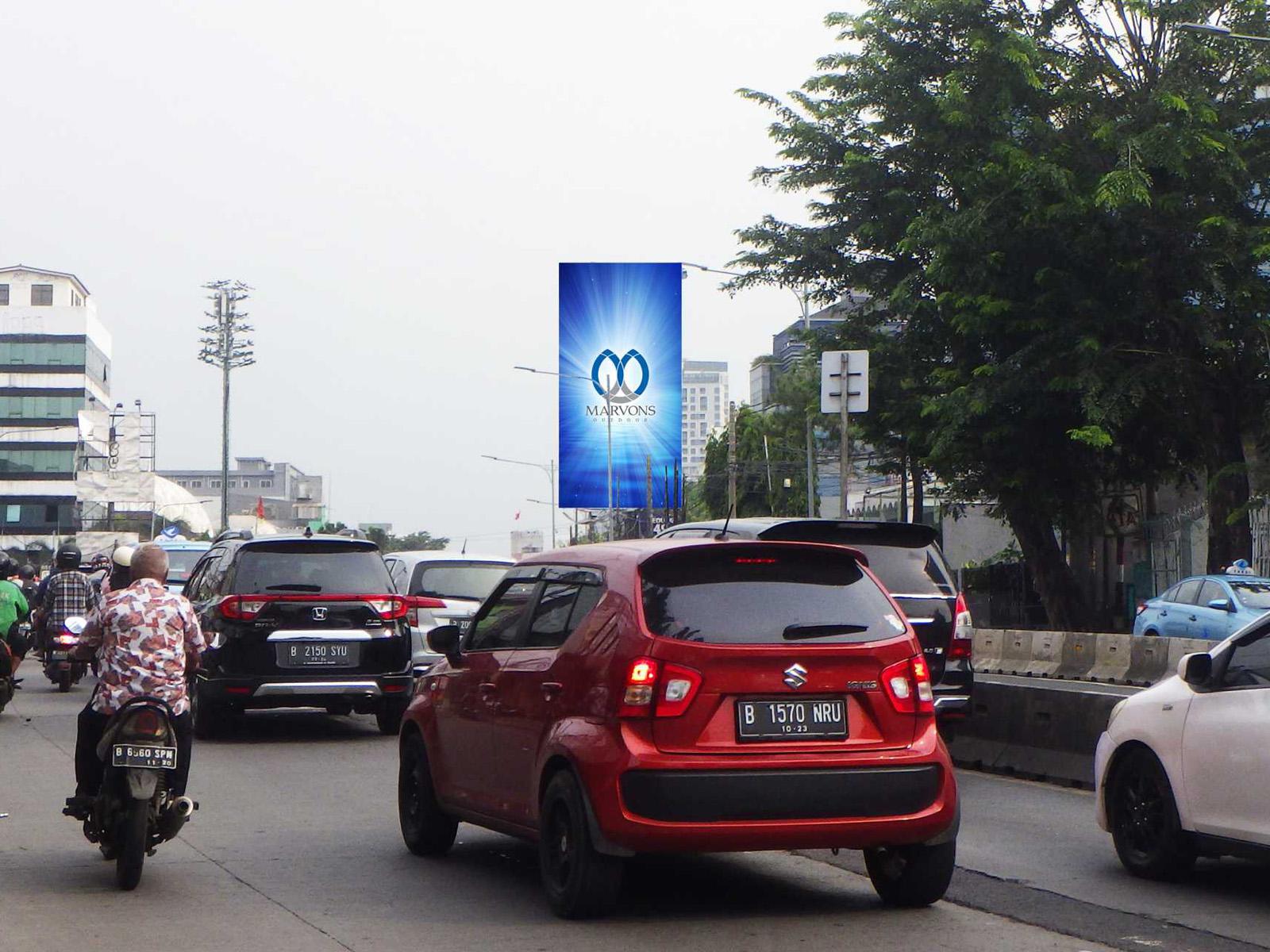 Warung Jati Barat (Depan Bengkel Mobil) (MV 139) - 6 m x 12 m x 1 mk Vertikal