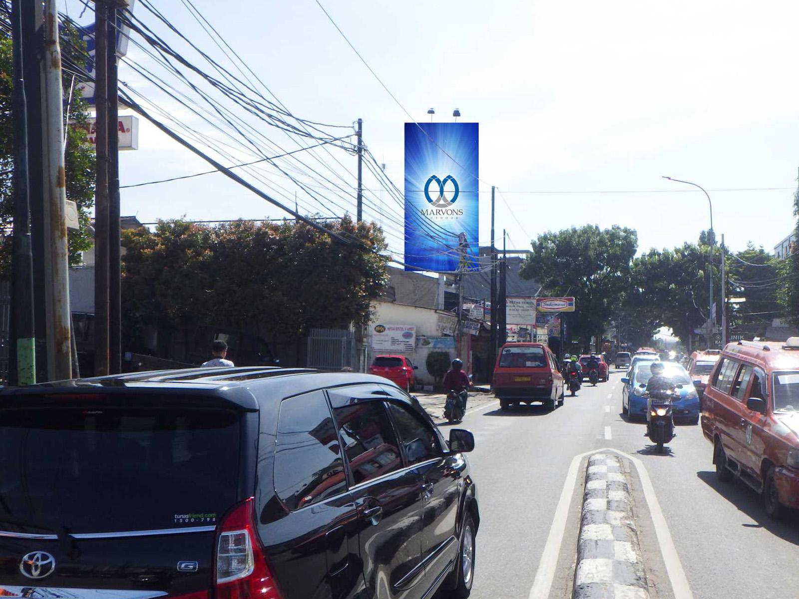 PT. Marvons Media Utama - Pondok Gede Raya (MV 120 A) - 4 m x 8 m x 1 mk Vertikal
