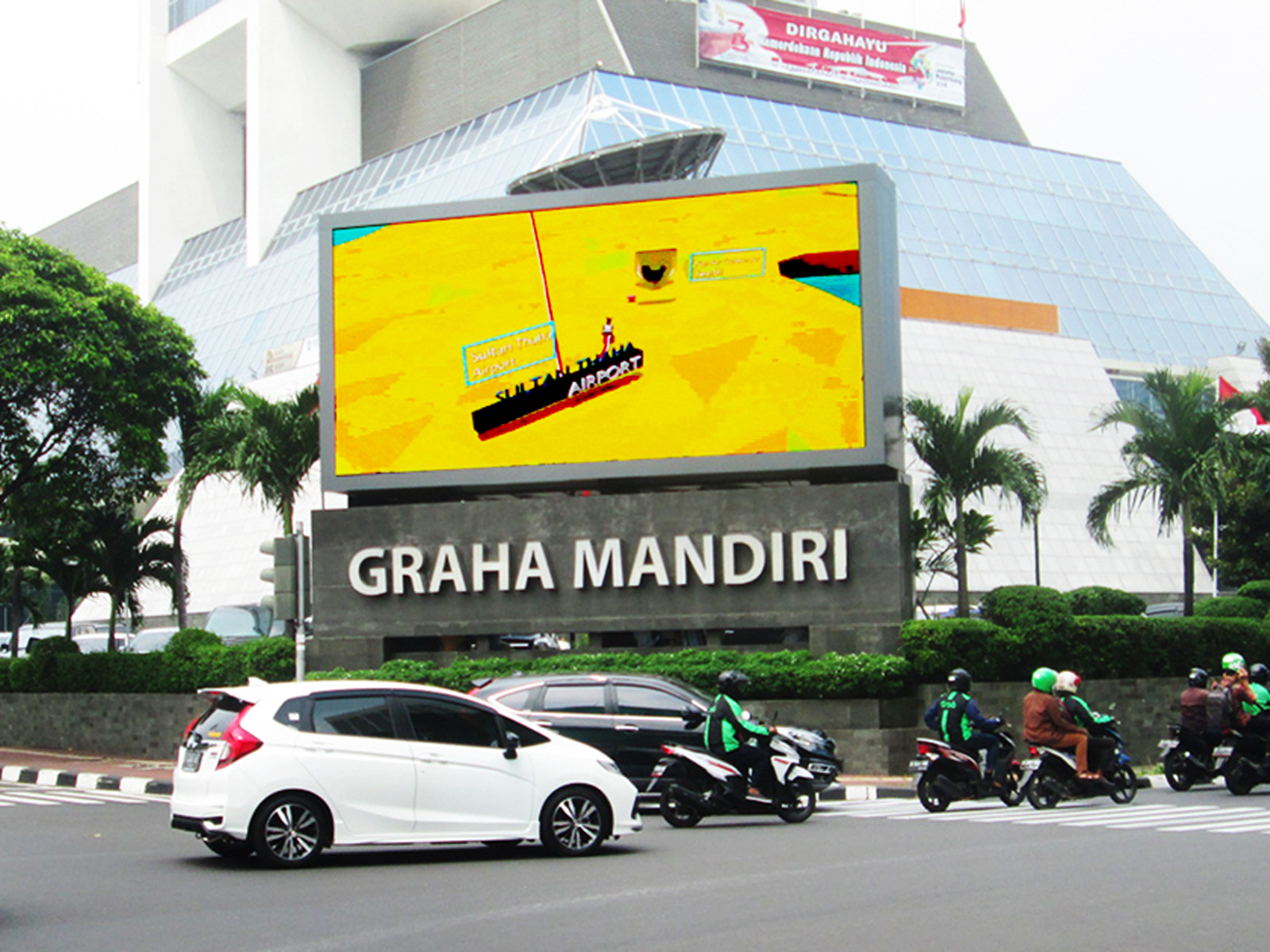 PT. Marvons Media Utama - Videotron Graha Mandiri - 4 m x 8 m Horizontal