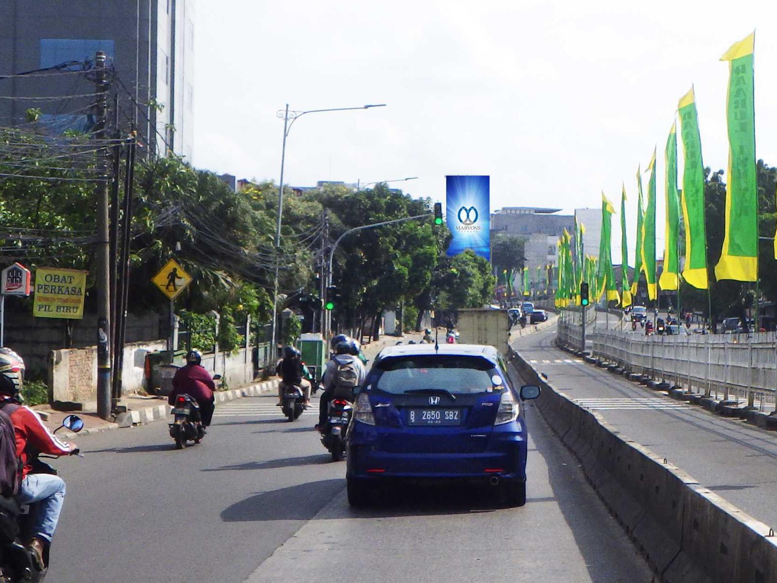 Warung Jati Barat (Depan Bengkel Mobil) (MV 138) - 6 m x 12 m x 1 mk Vertikal